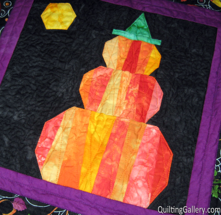 Pumpkin Topiary Quilting