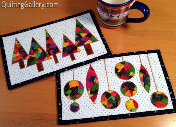 Patchwork Christmas Mug Rugs Aiming For Accuracy Pattern Co