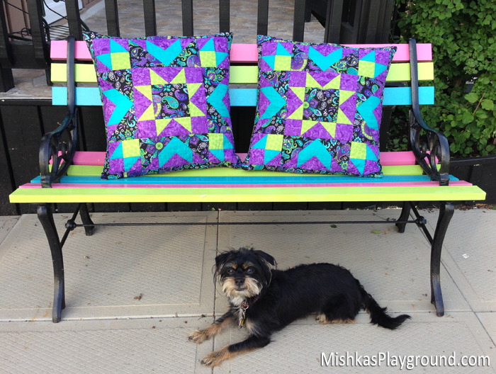 Star Explosion Quilted Pillows