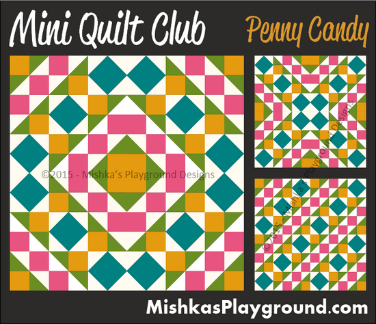 Straight Line Quilting penny-candy-mini-quilt