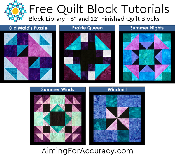 Download 5 Free Quilt Block Tutorials