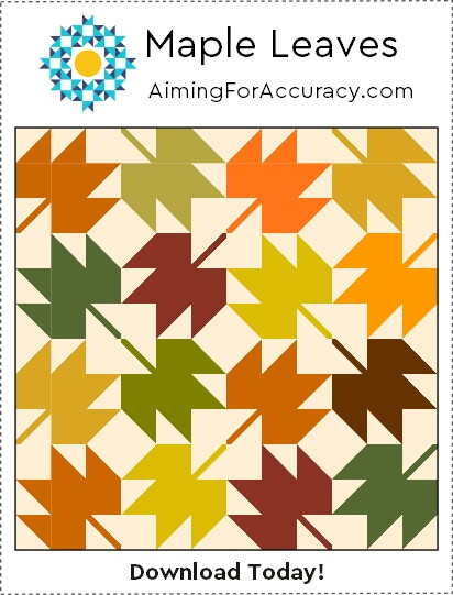 Free Maple Leaves Quilt Block Tutorial Aiming For Accuracy Pattern Co Extraordinary Maple Leaf Pattern