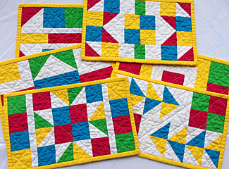 Little Gems Pieced Mug Rugs