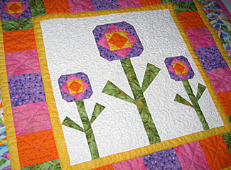 quilters-flowers-mini-quilt pattern