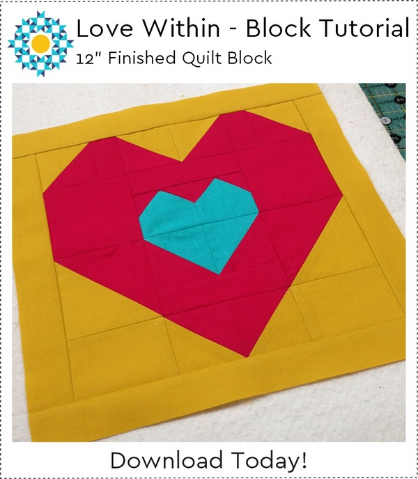 Love Within: a Free Quilt Block Tutorial