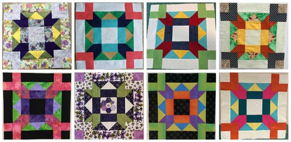 Colourful Dreams Quilt-Along Bonus Block Collage